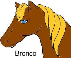 Bronco es una palabra que se escribe con br