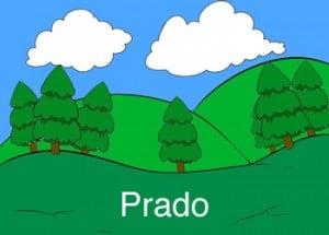 Prado es una palabra que inicia con pra