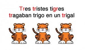 Trabalenguas tres tristes tigres
