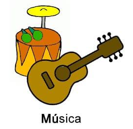 Tambor y guitarra